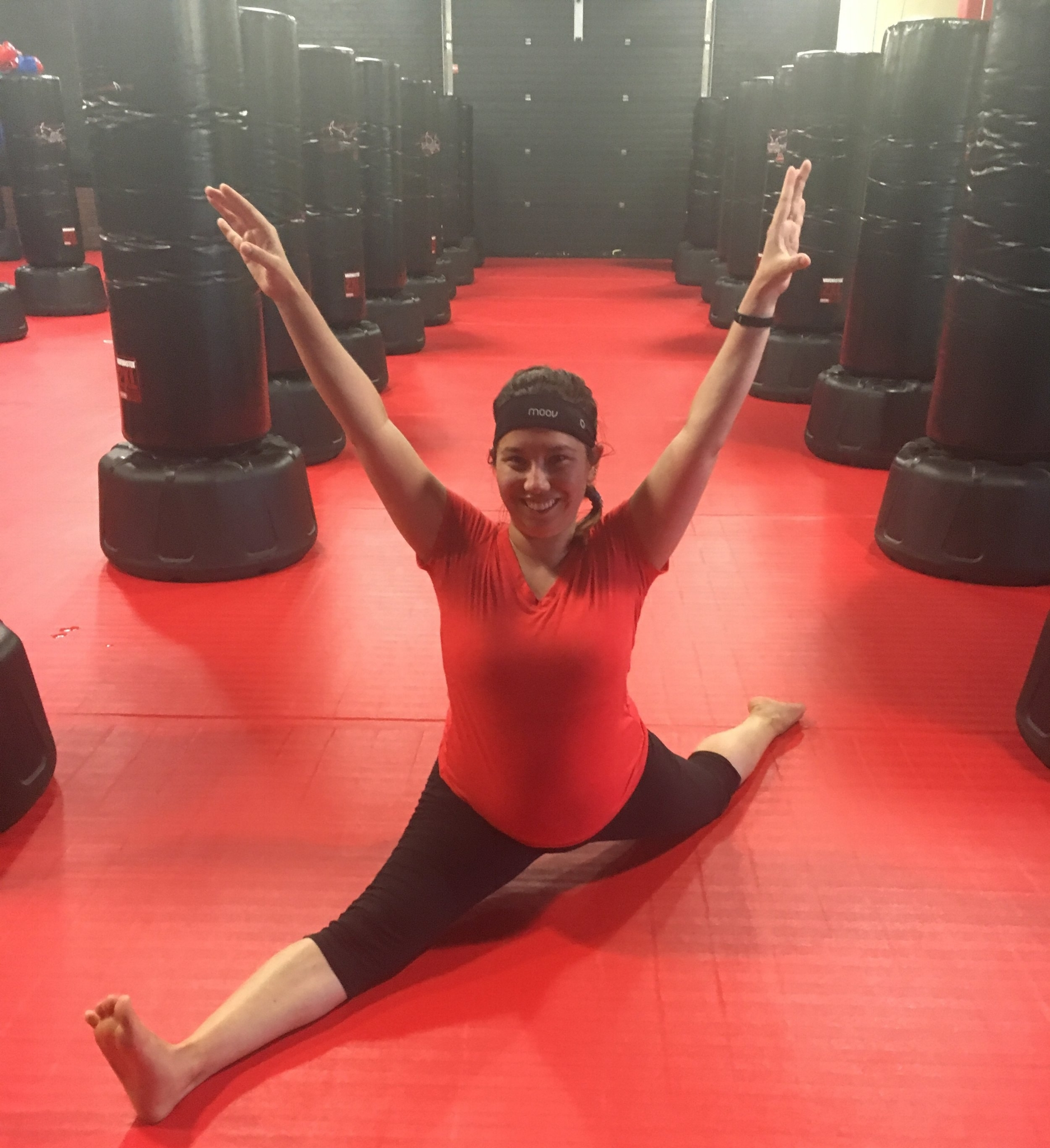 July 12, 2018 - VICTORY FRONT SPLIT  Couldn't do these during my 13 years of dance training, but something's starting to click. I'm getting stronger, more flexible.My body is working like a body, and I'm not stopping now.