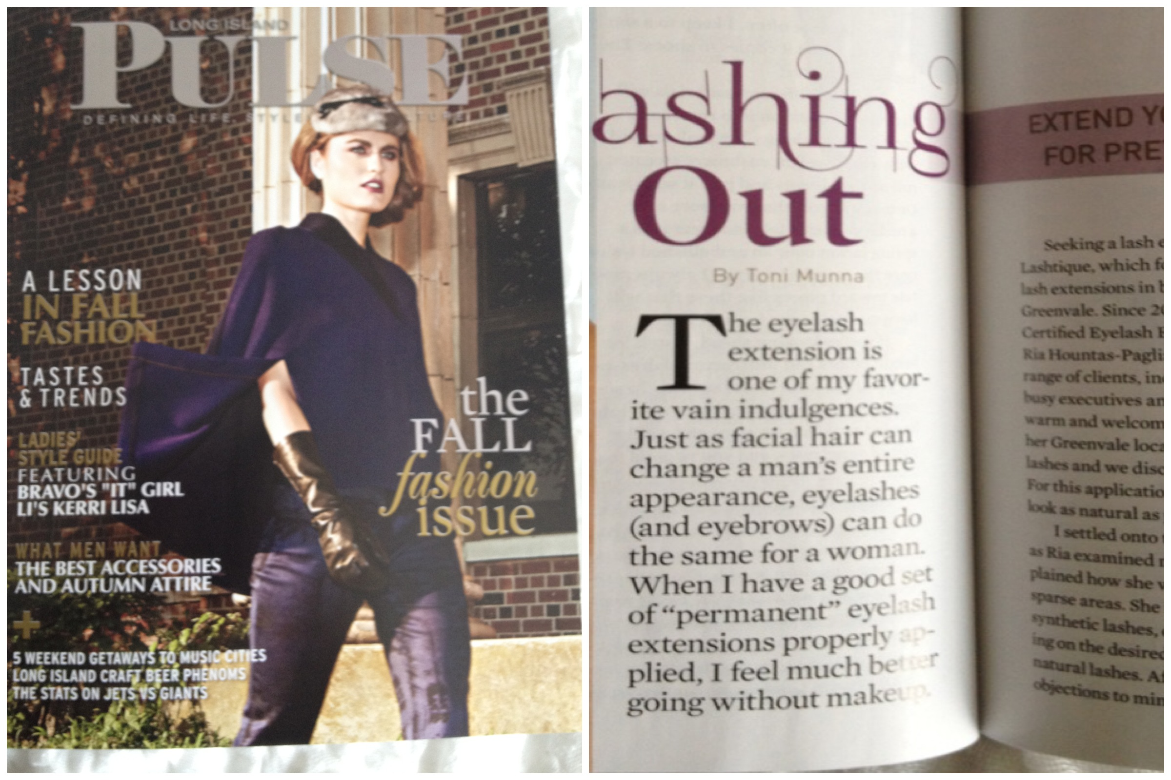 Long Island PULSE magazine Sept 2012   http://www.lipulse.com/health-beauty/article/lashing-out