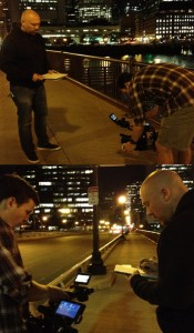 Ian McFarland in action during the location scout / camera test.
