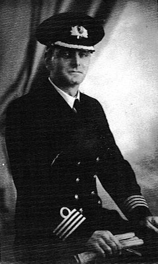 Captain Ernest Coultas, O.B.E., Lloyd's War Medal for Bravery at Sea, Master of M.V.  Empire Elaine , 1942-44.