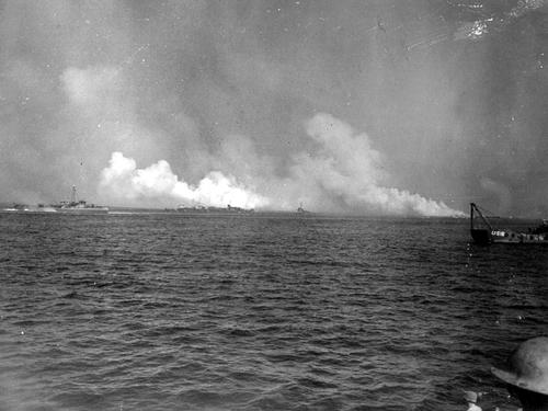 Red Beach, Cavalaire Bay, Operation Dragoon, 15 August 1944. A view taken from a British-manned landing craft.