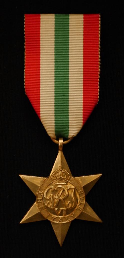 Italy Star awarded to Captain L.W. Gibbins