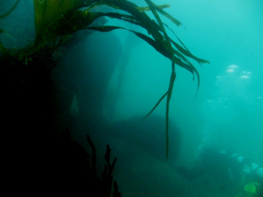David Gibbins diving on the wreck of the SS Grip, Cornwall, October 2014