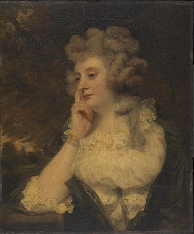 Matthias' daughter Jane Gale-Braddyll, by Joshua Reynolds, 1788 (Wallace Collection, London, P47).