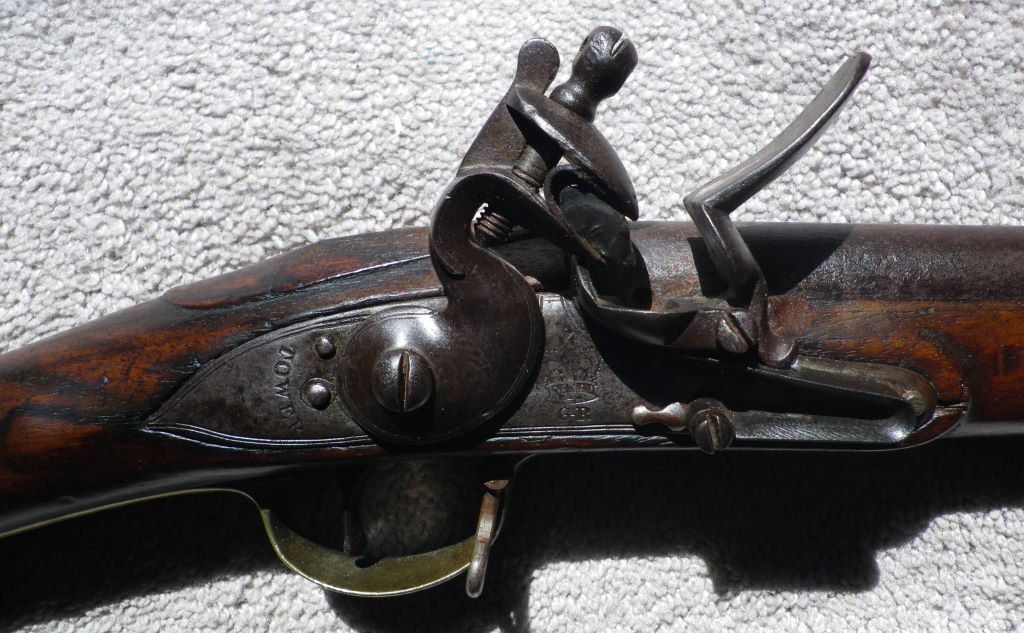 This and the two photos below (click to enlarge) show a very similar India Pattern musket to mine also stamped  MSR , and also from Ontario (photos: Dr Derek Booth).