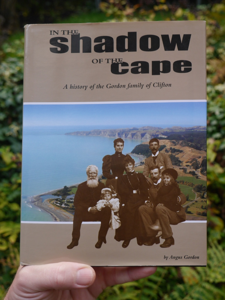 Angus Gordon's book  In the shadow of the Cape: a history of the Gordon family of Clifton , published in 2004. The bearded man is my great-great-great grandfather Captain Thomas Edward Gordon (1828-1918).