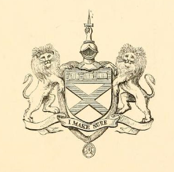 The arms of Kirkpatrick of Closeburn. The dagger and the motto 'I make sure' (I Mak Sikkur) derive from an event in the life of Robert the Bruce, when his companion and cousin - and my ancestor - Roger de Kirkpatrick finished off 'Red Comyn' and uttered those words on raising his bloody dagger. The murder took place in February 1306, just before Bruce was crowned King.