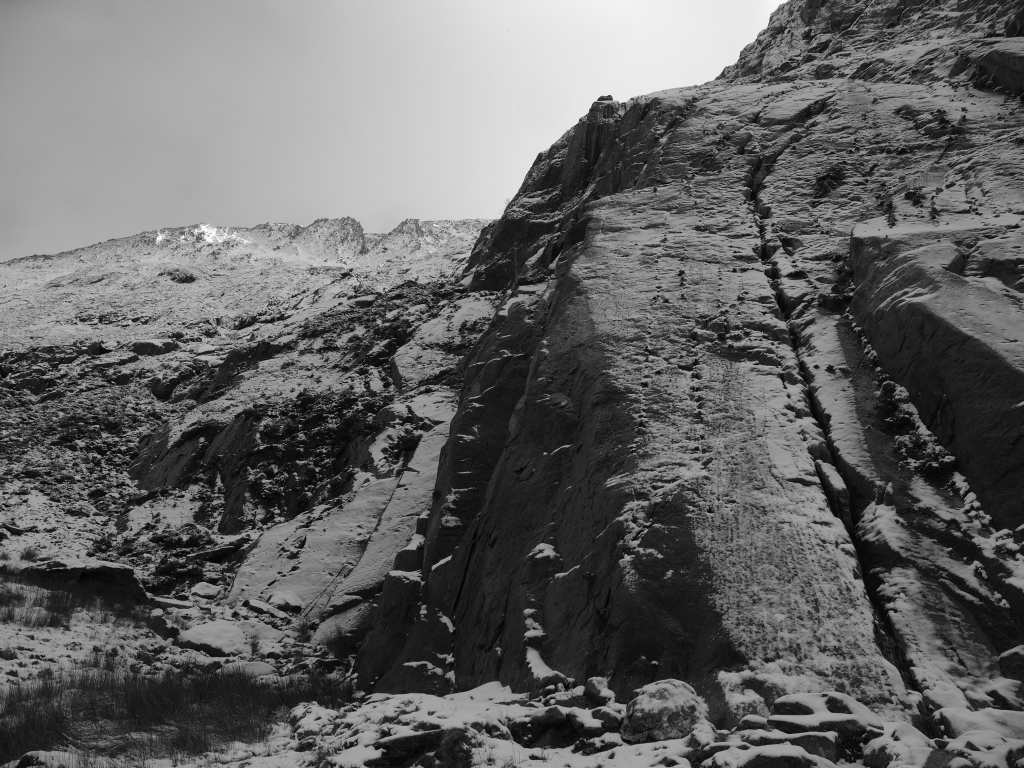 The Idwal Slabs with Y Gribin in the background
