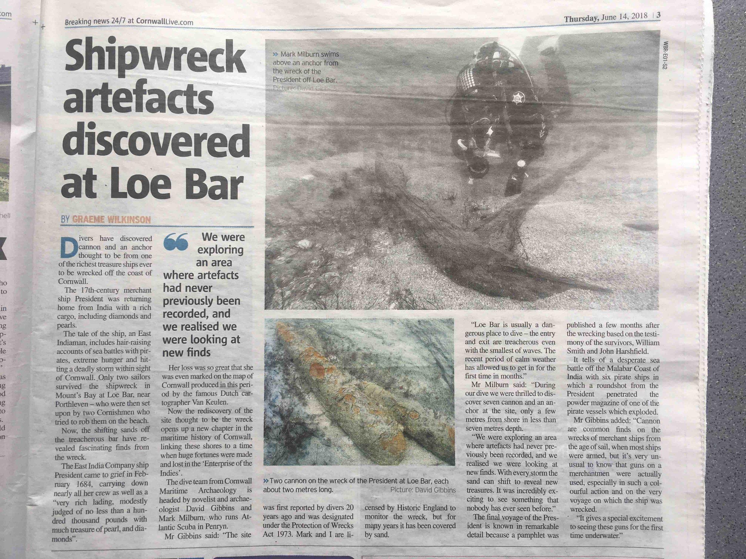 Loe Bar West Briton article 14 June 2018.jpg