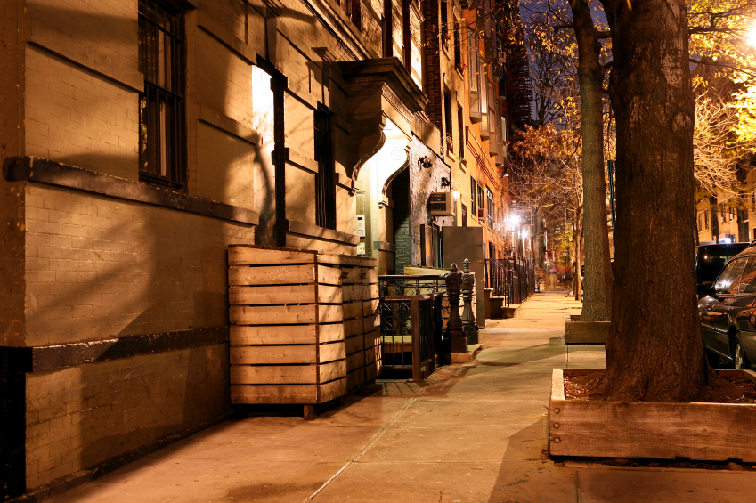 Greenwich Village at night