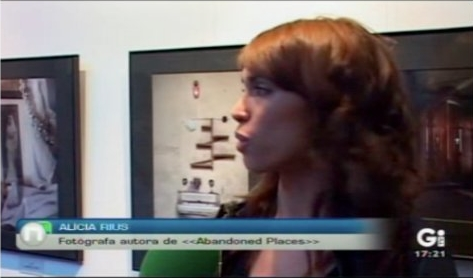 Alicia Rius (me) on National TV in Spain.