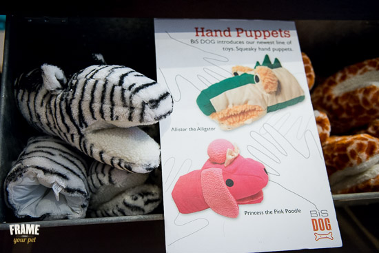 Squeeky hand puppets for both dogs and cats.