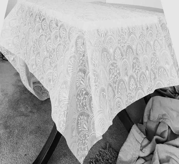 White Milano Table Cloth