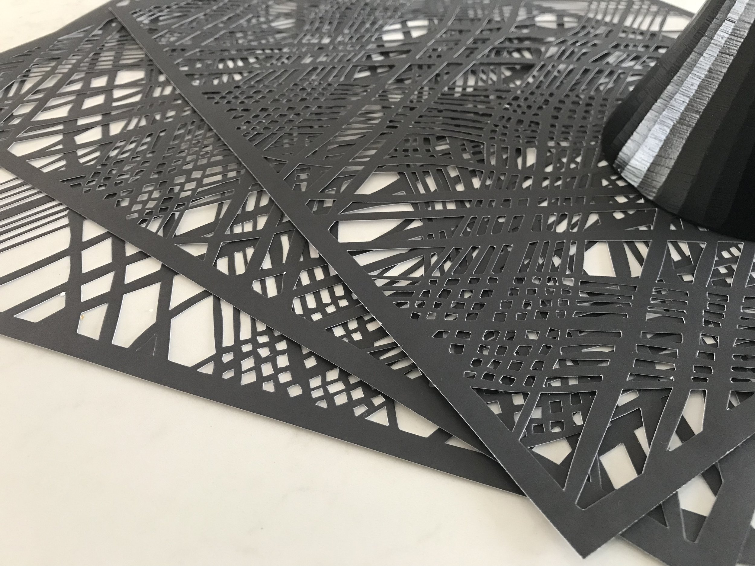Weave Charcoal Placemats
