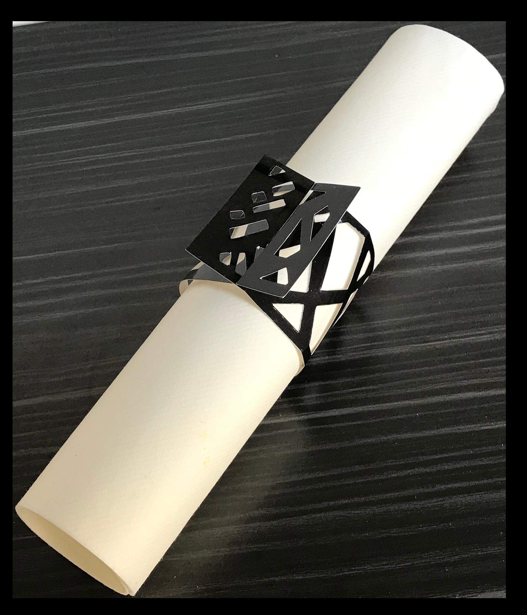 Weave Black Napkin Wraps