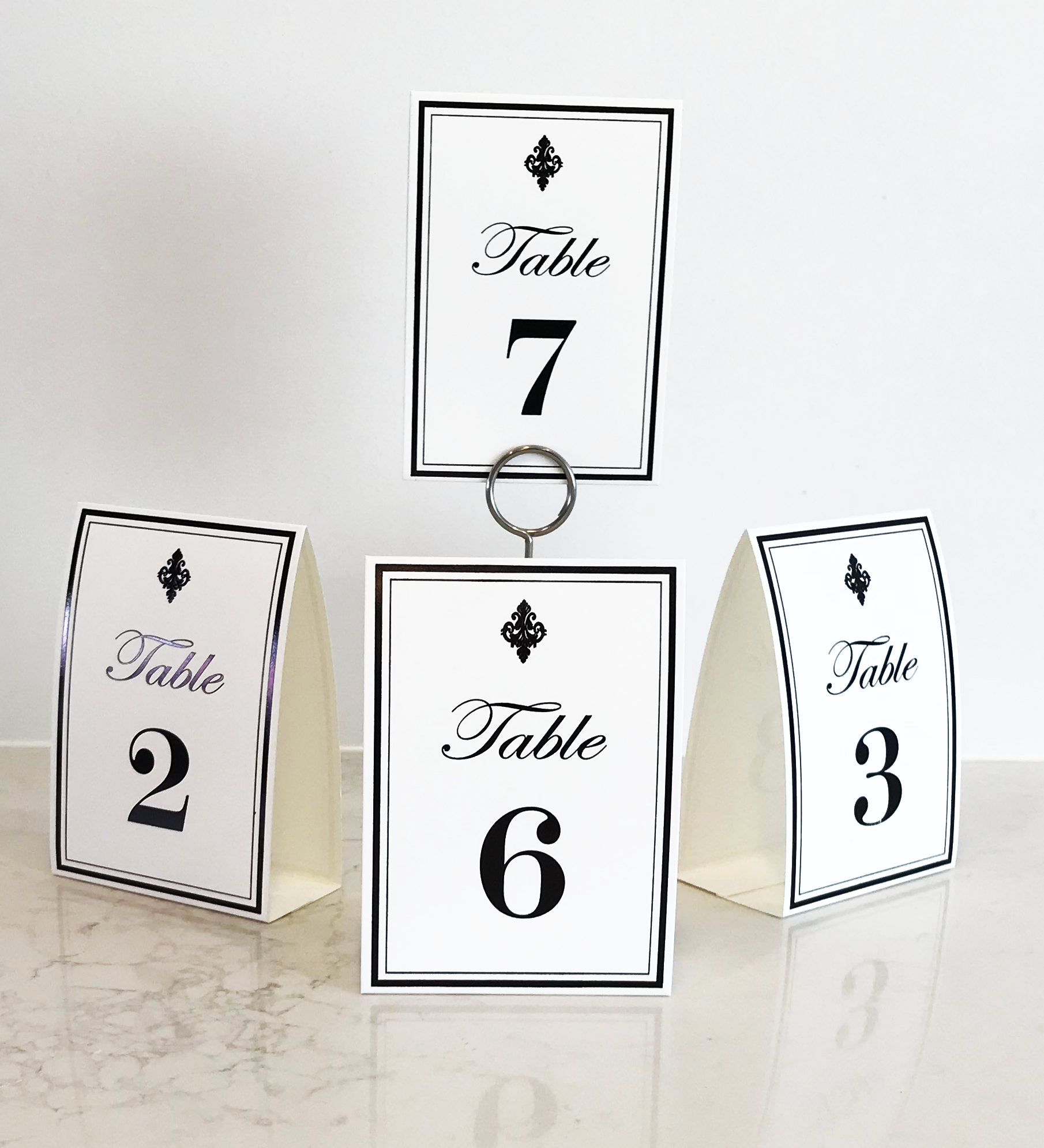 Royale Table Numbers