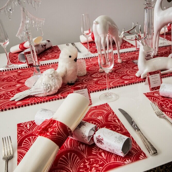 Copy of Red Milano Square Placemats