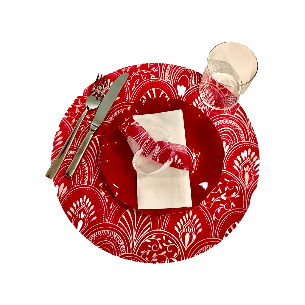 Red Milano Round Placemats