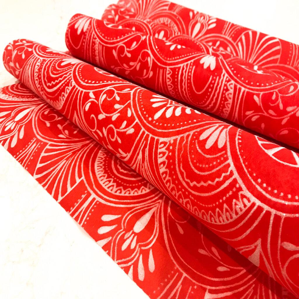 Red Christmas Table Runner (Milano Design)
