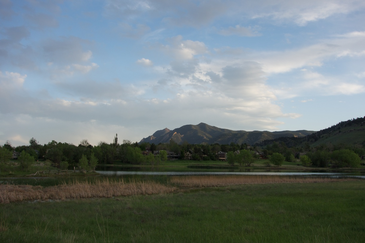 Flatirons at dusk, 27 May