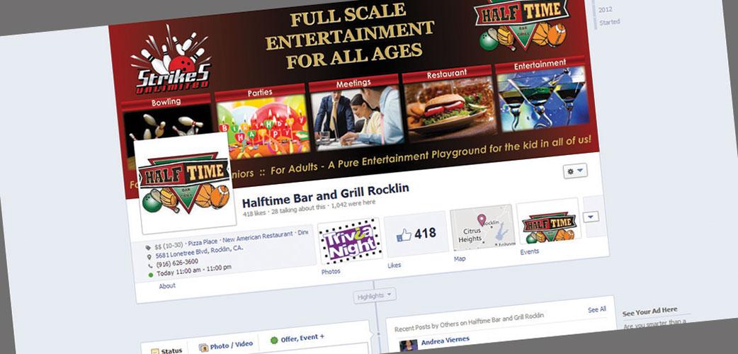 HalfTime Facebook