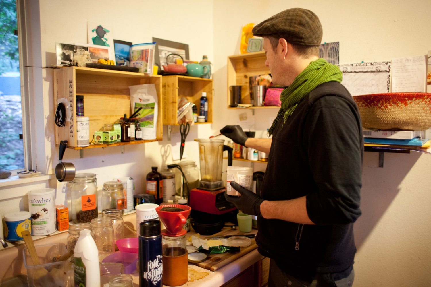 Colin makes his family butter coffee and butter hot chocolate.