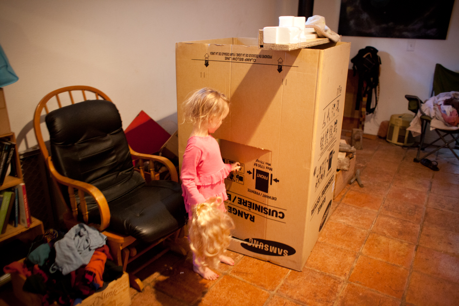 First, Aria wanted to show me their fort.