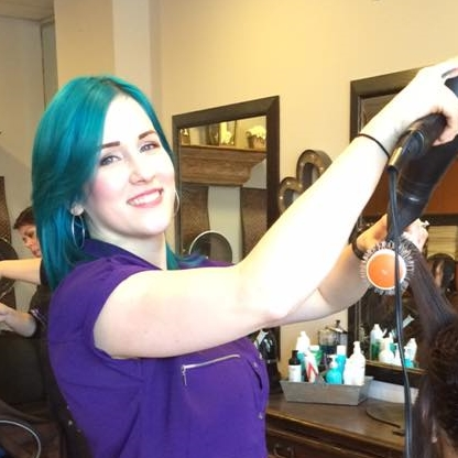 STEPHANIE   Stephanie's passion lies in creative/vivid colors, balayage, and hair painting. Stephanie also specializes in updos for all occasions and asymmetrical/Bob haircuts.