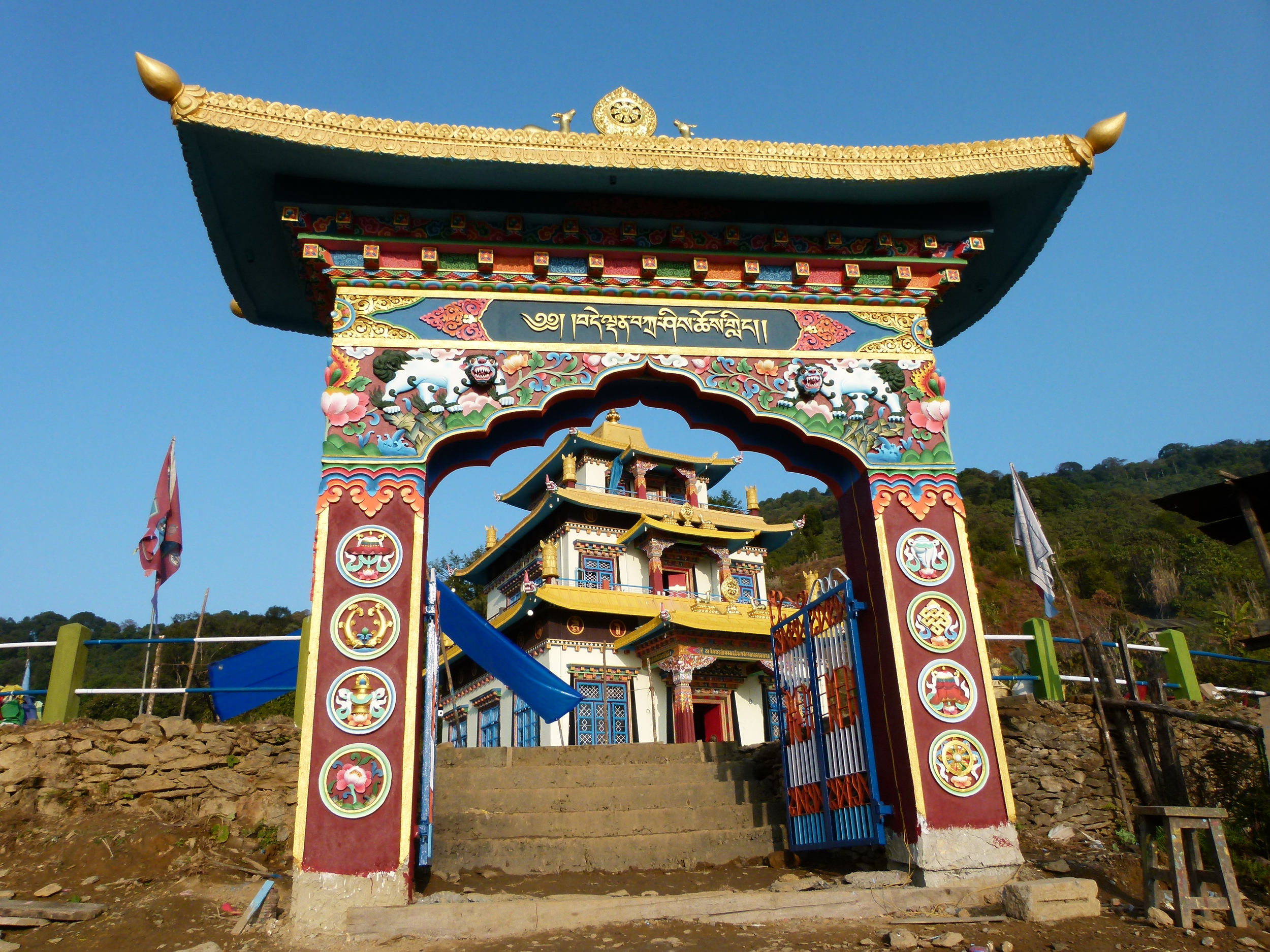 The temple through the gate