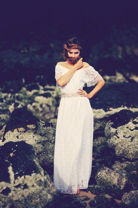 white lace wedding dress off the shoulder  bohemian beach wedding-f92623.jpg