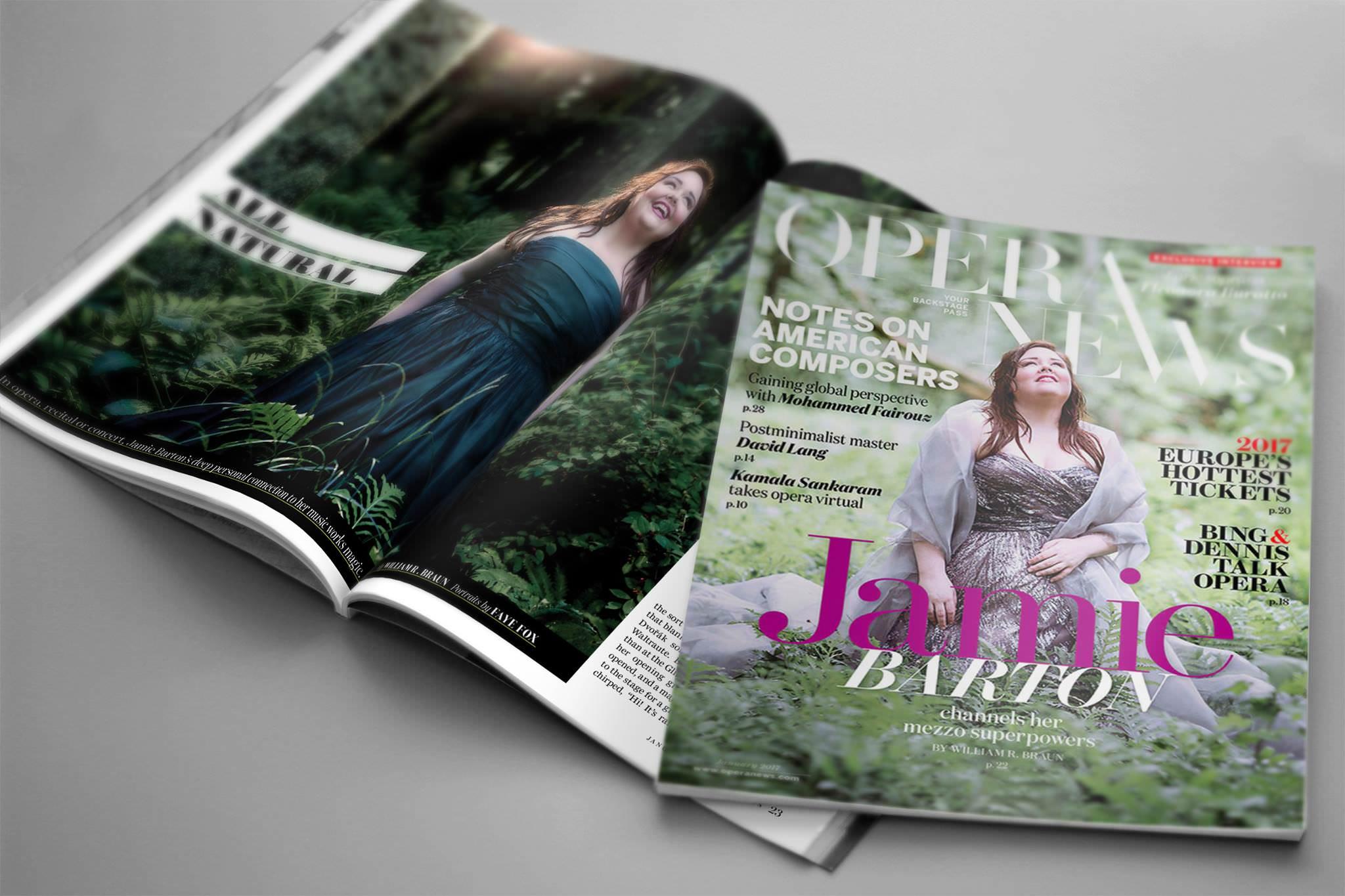 Verismo client Jamie Barton on the cover of  Opera News  magazine