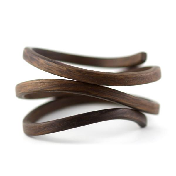 B6 Reyes, Gustav organic coil narrow bracelet, black.jpg