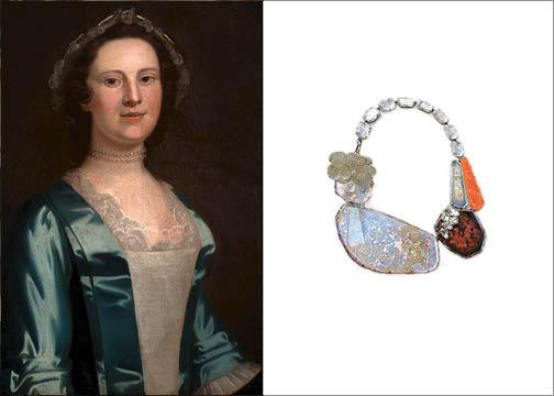 Portrait of Margareta Van Wyck Schuler | Necklace