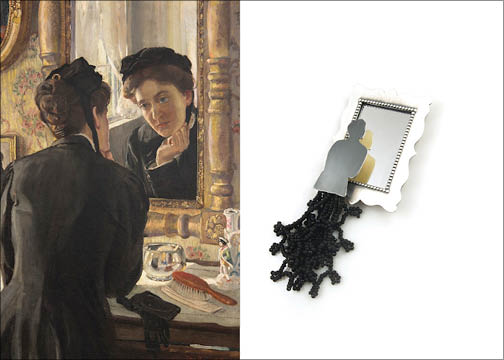 She Leaned Forward and Gazed Anxiously at the Reflection Which Confronted Her | Brooch
