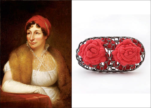 Portrait of Catherine Reinhardt Duval | A Fur Stole Brooch for Catherine