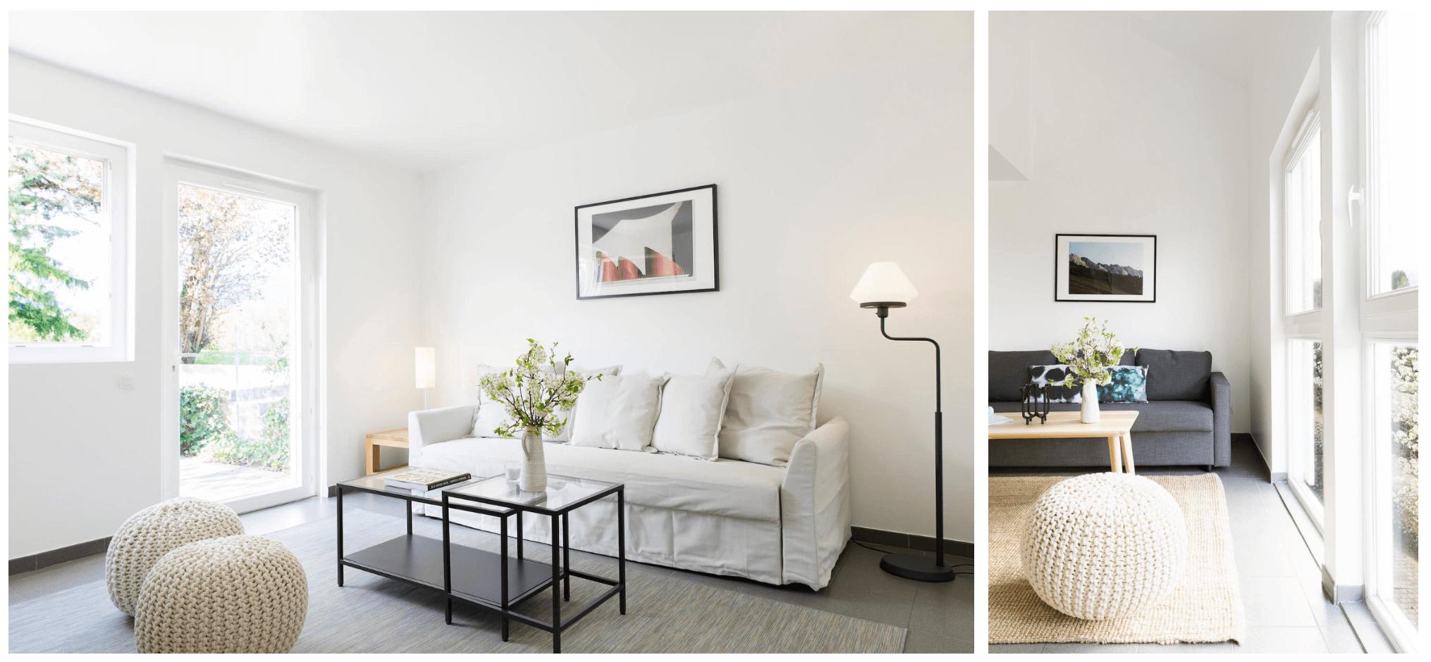 Voir nos studios et duplex à vendre meublé en IKEA ! → Le Lodge de Segny dans le pays de Gex