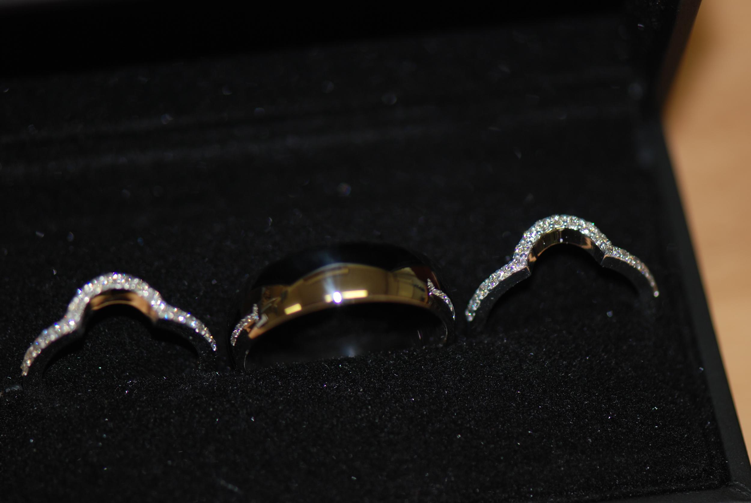 Diamond wedding bands,custom fitted.