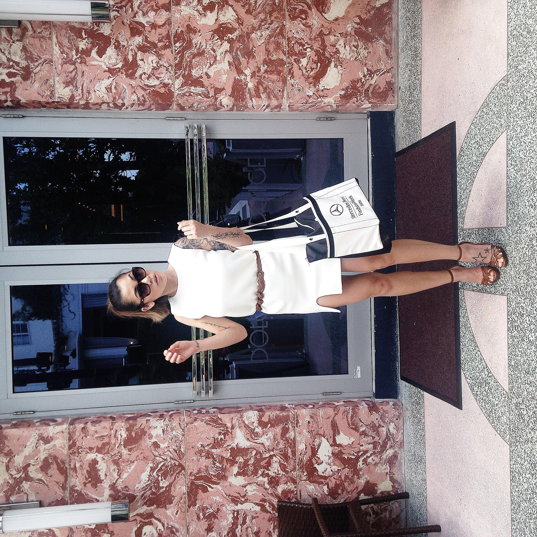 Dress -  Hello Parry ; Sunglasses -  Le Specs ; Shoes -  Wanted Shoes