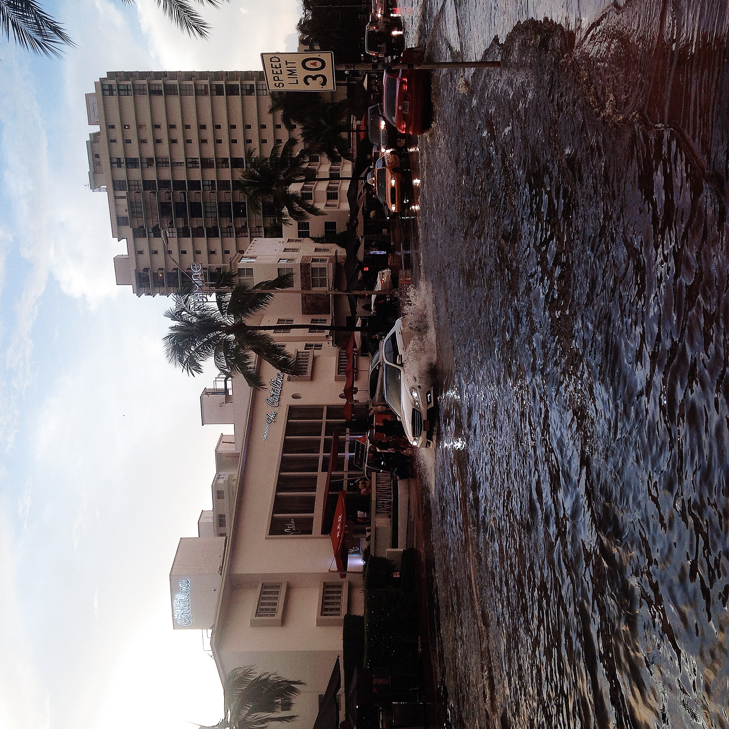 Did I mention that we had torrential rain in Miami and it flooded? lol!!