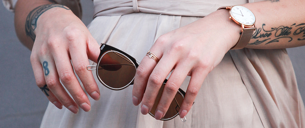 SHADES BY  ZEROUV  // WATCH BY  KAPTEN&SON