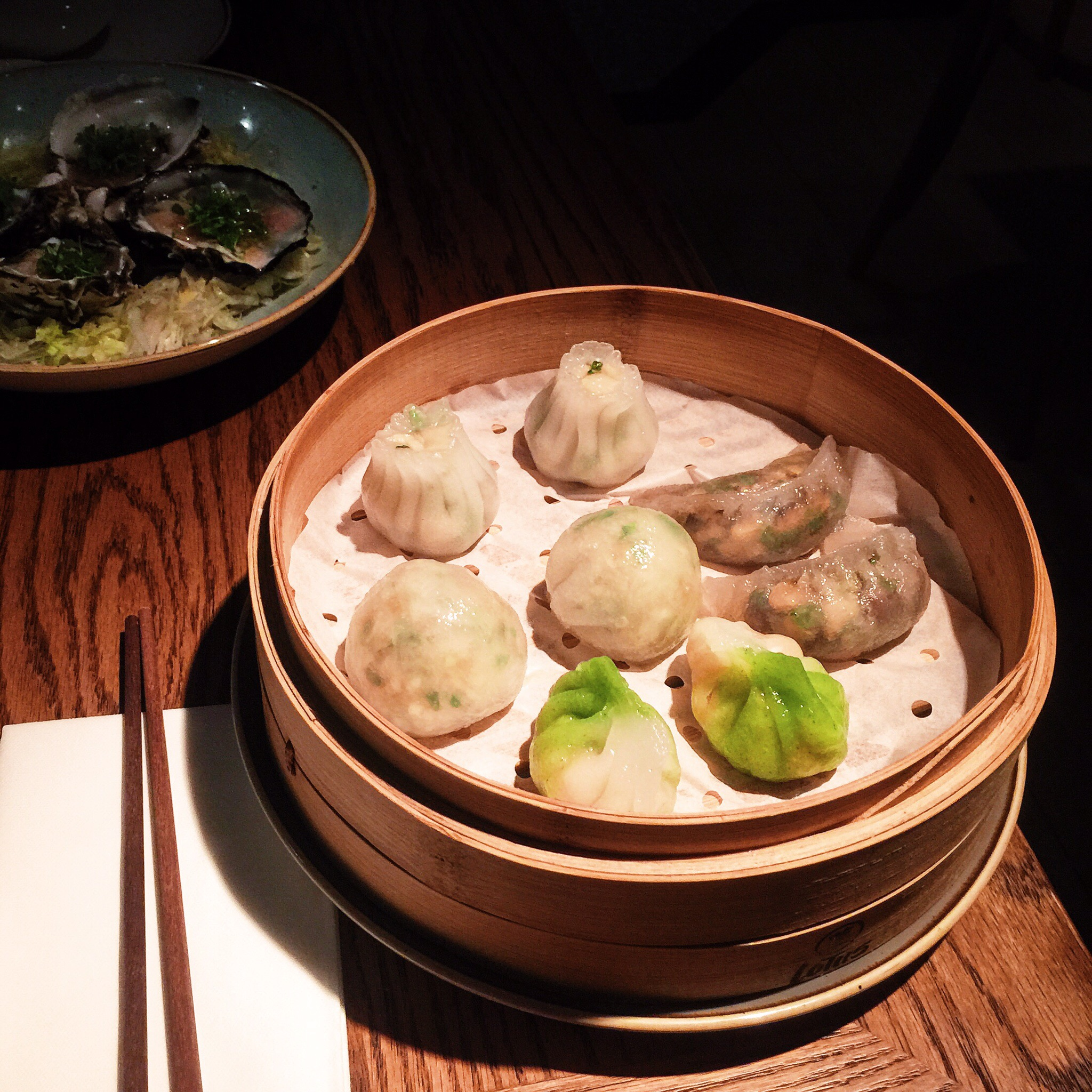 "Mixed dumpling platter! ""Steamed shiitake mushroom dumplings"" were a favourite!"