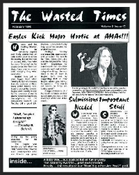 In this issue: Eagles kick major Hootie at AMAs, Grammy Awards Past and Present, Randy Meisner From the Files, Glenn teaches songwriting, How Big a Fan are you?, Cyber news, Ode to the Eagles, Box Day for Squares,