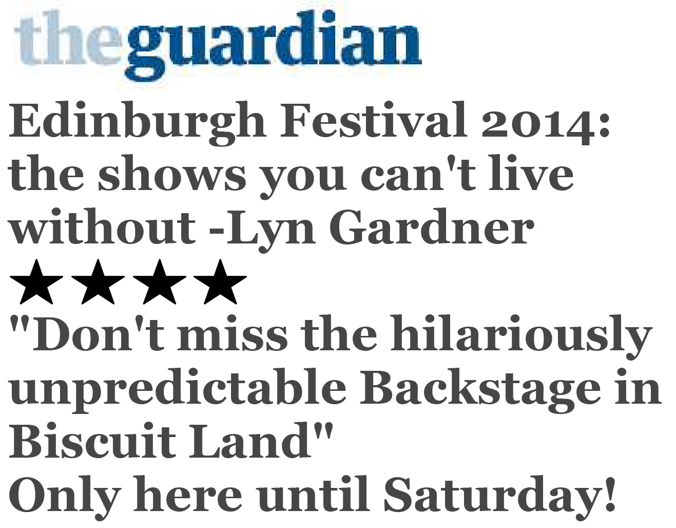 Edinburgh festival 2014: the Tourette's hero highs and Nancy Dell'Olio lows by Lyn Gardner