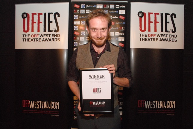 Offies Winner Best Production for Young People (over 8yrs) 2015, Director Daniel Goldman, for Albert Einstein: Relativitively Speaking at Southwark Playhouse