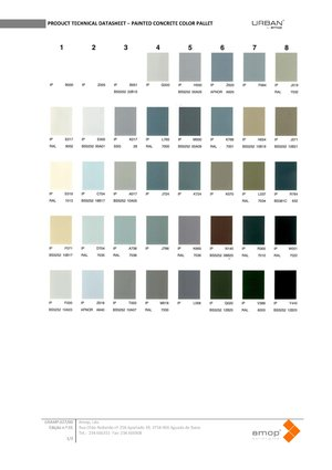 Amop Painted Concrete Colour Palette