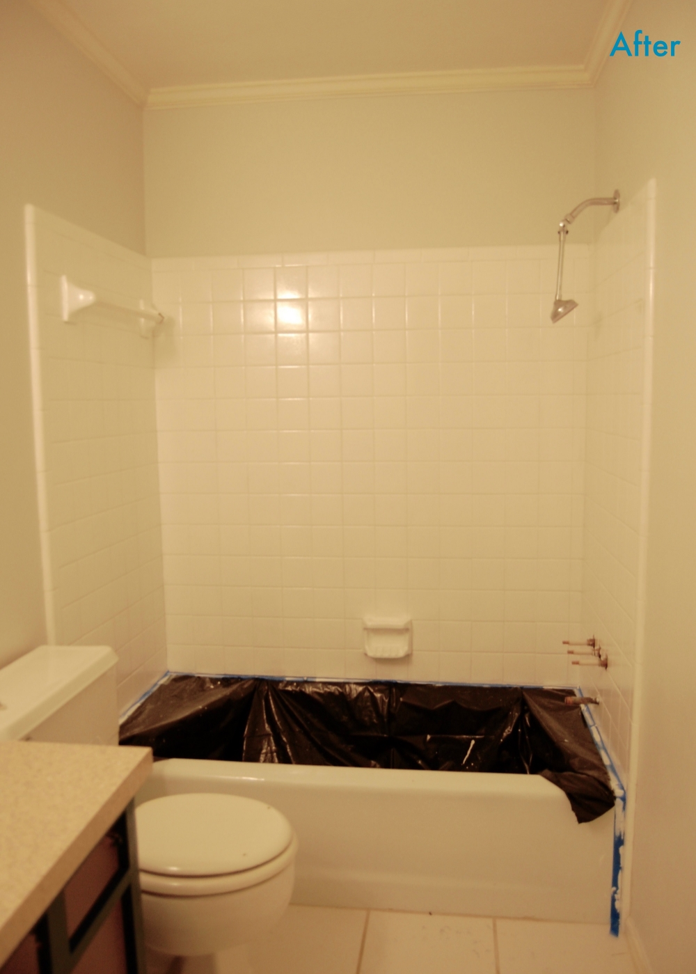 After - Bright White Tile