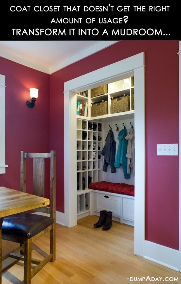 Amazing-Easy-DIY-Home-Decor-Ideas-closet-to-mudroom.jpg