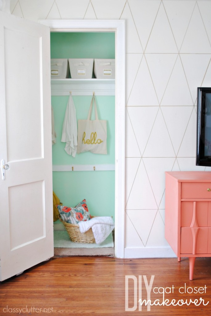 Gorgeous Coat Closet Makeover from Classy Clutter.