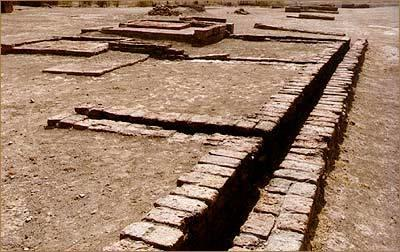 Drainage at the Indus Valley city of Lothal.  It was incredibly advanced and efficient for the time.