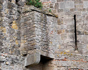 A castle garderobe. Made famous by the Game of Thrones TV show. It has a hole in the bottom to allow excrement to escape.